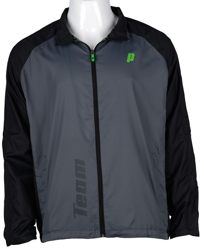 Prince Tennis Herren Trainerjacke / Warm Up Jacket Grau