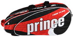 Prince Tour Team Warrior 12 Bag - Tennistasche  Black-White-Red